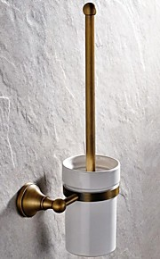 Toilet Brush Holder High Quality Antique Brass 1 pc - Hotel bath
