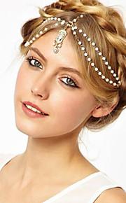 Femme Alliage / Imitation de perle Casque-Mariage / Occasion spéciale / Décontracté / Extérieur Chaîne pour Cheveux