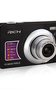 "rich® dc-Z150 hd 720p pixels 15,0 megapixels 12x zoom 2.7 ""LCD-scherm hd digitale camera"