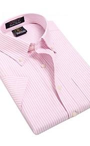 رجالي قطن قميص قياس كبير الأعمال التجارية مخطط, الرياضة / عمل / كم قصير