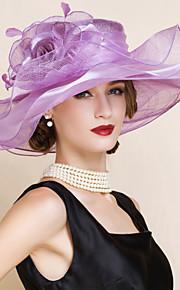 Femme Lin Casque-Mariage / Occasion spéciale Chapeau 1 Pièce Head circumference Adjustable(54-58cm)