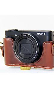 5308bf327bb dengpin® pu δέρμα κάμερα τσάντα περίπτωση να καλύπτουν με ιμάντα ώμου για  SONY DSC-