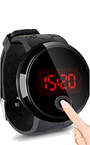 남성용 손목 시계 디지털 시계 디지털 실리콘 블랙 방수 터치 스크린 창조적 디지털 블랙 블랙 / 화이트 화이트 / 실버 2 년 배터리 수명 / LED / Panasonic CR2032