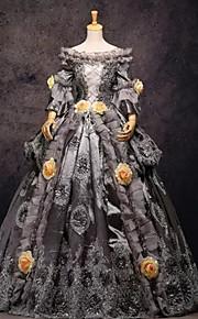 Rococo Viktoria Tarzı Kostým Dámské Šaty Kostým na Večírek Maškarní Šedá  Retro Cosplay Krajka Prádlo Satén 4ad97d8da6