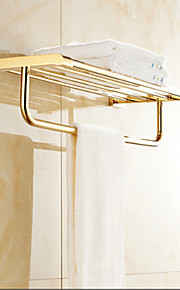 욕실 선반 콘템포라리 놋쇠 1개 - 호텔 목욕 더블
