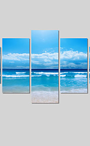 Toile Paysage Moderne Cinq Panneaux Format Horizontal Décoration murale Décoration d'intérieur