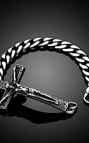 Per uomo Bracciali a catena e maglie Vintage Da serata Da ufficio Casual Di tendenza Acciaio al titanio Gioielli Quotidiano Bigiotteria