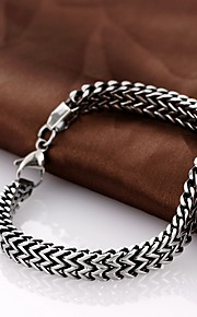 Bracciali a catena e maglie Originale Vintage Da serata Da ufficio Casual Di tendenza Acciaio al titanio Nero Altro Gioielli Regali di