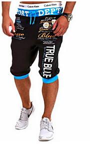 Hombre Activo Algodón Activo / Holgado / Pantalones de Deporte Pantalones - Letra Estampado Rojo / Deportes / Verano