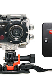 F21 Action Kamera / Sportskamera 5mp 3264 x 2448Pixel Wifi / Anti-Chock / Smile Detektor 4X CMOS 32GB H.264 Engelsk 50m Ski / Universel /