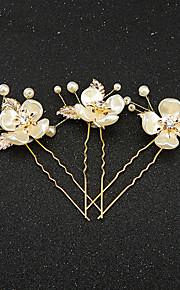 Napodobenina perel Pryskyřice Štras Doplňky do vlasů Sponka do vlasů with Květiny 1ks Svatební Zvláštní příležitosti Přílba