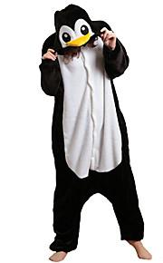 어른' 올인원 캐릭터 파자마 펭귄 동물 점프수트 파자마 폴라 플리스 블랙 / 화이트 코스프레 에 대한 남자와 여자 동물 잠옷 만화 페스티발 / 홀리데이 의상