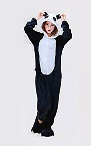 어른' 올인원 캐릭터 파자마 팬더 동물 점프수트 파자마 폴리 에스터 블랙 / 화이트 코스프레 에 대한 남자와 여자 동물 잠옷 만화 페스티발 / 홀리데이 의상