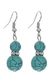 Dame Pige Vintage Bohemisk Rhinsten Sølvbelagt Legering Geometrisk form Smykker Blå Afslappet Kostume smykker