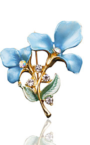 Dames Broches - Stijlvol, Modieus Broche Blauw / Roze / Gouden Voor Bruiloft / Dagelijks gebruik