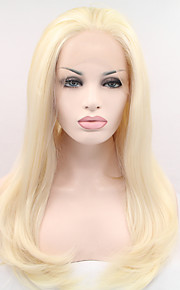 Syntetisk blonder foran parykker Naturlige bølger Dame Blonde Forside Karneval Parykk Halloween parykk Naturlig parykk Syntetisk hår