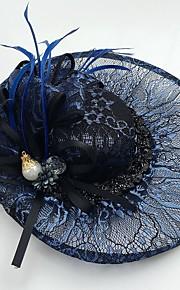 cubic zirconia dentelle plume net fascinateurs chapeaux style élégant