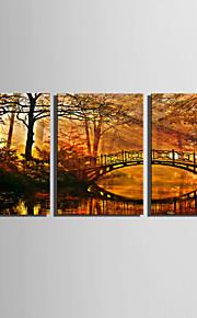 Stretchad Kanvastryck Landskap Tre paneler Vertikal Tryck väggdekor Hem-dekoration