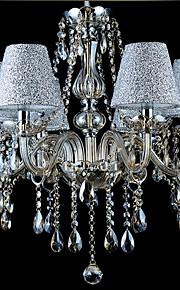 6 lumières Bougie Lustre Lumière dirigée vers le haut - Cristal, 110-120V / 220-240V Ampoule non incluse / 20-30㎡ / E12 / E14