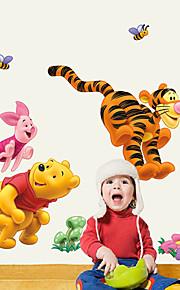 Tiere Mode Cartoon Design Wand-Sticker Flugzeug-Wand Sticker Dekorative Wand Sticker, Papier Haus Dekoration Wandtattoo Wand
