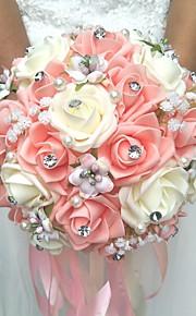"""פרחי חתונה זרים חתונה פּוֹלִיאֶסטֶר 7.87""""(לערך.20ס""""מ)"""