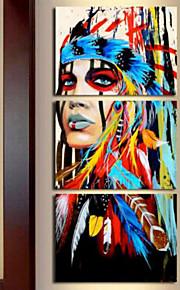 Impressions sur toile roulées Abstrait Moderne, Trois Panneaux Format Vertical Imprimé Décoration murale Décoration d'intérieur