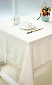 naturligt vanligt mönsterduksduk vit bomullsmixmaterial 1pc