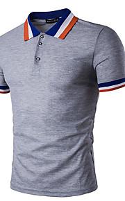 男性用 Polo シャツカラー ストライプ コットン / 半袖