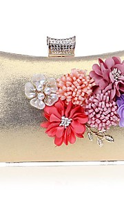 Women's Bags Polyester Evening Bag Pocket for Event/Party All Seasons Gold Silver Red