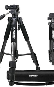 zomei q111 bærbar professionel lysvægt rejsende tripod med pandehoved til kamera dslr dv canon nikon sony black
