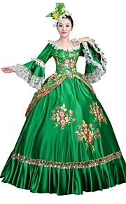 aec431ec44f6 Μαρία Αντουανέττα Rococo Victorian 18ος αιώνας Στολές Γυναικεία Φορέματα  Κοστούμι πάρτι Χορός μεταμφιεσμένων Πράσινο Πεπαλαιωμένο Cosplay