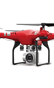 RC 드론 FLYRC X52HD RTF 4CH 6 축 2.5G HD카메라 내장 2.0MP 1080P RC항공기 LED 조명 / 리턴용 1 키 / 자동 이륙 RC항공기 / 리모컨 / 카메라 / 헤드레스 모드 / 360동 플립 비행 / 액세스 실시간 영상 / 호버 / 에어 프레스 고도 홀드