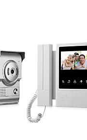 Sistema di videocitofono con videocitofono da 9 pollici a colori con copertura impermeabile per fotocamera da esterno CMOS