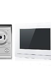 Sistema videocitofono con videocitofono a colori da 7 pollici con telecamera per campanello di sblocco
