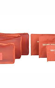 6 sad Cestovní taška / Cestovní pořadatel / Organizér zavazadel Velká kapacita / Voděodolný / Odolné vůči prachu PODPRSENKY / Oblečení Oxfordská látka Cestování