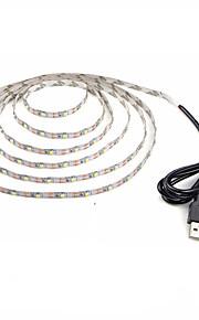 1m Гибкие светодиодные ленты 60 светодиоды Тёплый белый Холодный белый Декоративная Работает от USB DC 5V 1шт