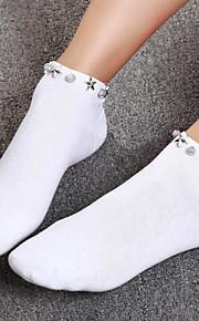 1 Pair Women's Socks Standard Solid Colored Leg Shaping Sweet Style Cotton EU36-EU42