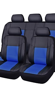 Car Seat Covers Seat Covers Black Red Beige Gray Blue PU Leather Business for universal Universal