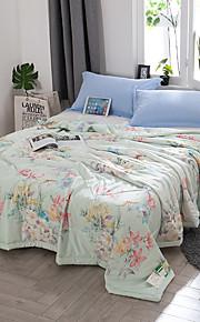 Komfortabel 1stk Sengetæppe, Håndlavet Reaktivt Print Blomstret Sommer