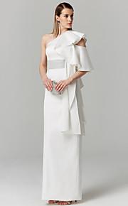 Fourreau / Colonne Une Epaule Longueur Sol Satin Soirée Formel Robe avec Ceinture / Ruban par TS Couture®