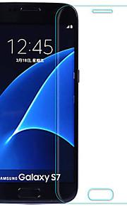 スクリーンプロテクター Samsung Galaxy のために S7 強化ガラス 1枚 フルボディプロテクター 防爆 2.5Dラウンドカットエッジ 硬度9H