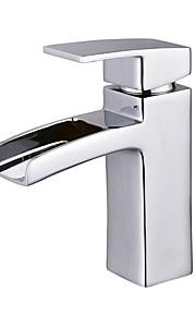 욕실 싱크 수도꼭지 - 워터팔 크롬 세면대 수전 싱글 핸들 하나의 구멍