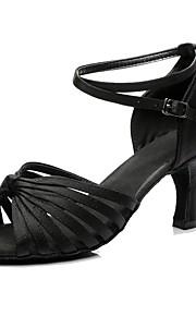 Mujer Latino Seda Tacones Alto Interior Entrenamiento Tacón Personalizado Negro Personalizables