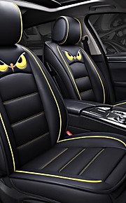 ODEER Seat Covers Black PU Leather Cartoon for universal All years All Models