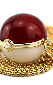 Больше аксессуаров Вдохновлен Pocket Little Monster Ash Ketchum Аниме Косплэй аксессуары 1 ожерелье Искуственные драгоценные камни
