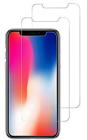 スクリーンプロテクター Apple のために iPhone X 強化ガラス 2 PCS スクリーンプロテクター 指紋防止 傷防止 防爆 2.5Dラウンドカットエッジ 硬度9H