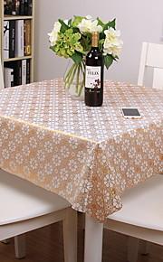 Hedendaagse PVC Vierkant Tafellakens Bloemen Opdrukken Tafeldecoratie