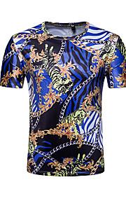 T-shirt Per uomo Attivo Essenziale Con stampe, Fantasia geometrica Monocolore