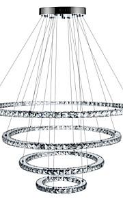 Circulaire Lustre Lumière d'ambiance - Cristal, Intensité Réglable, LED, 110-120V / 220-240V, Dimmable avec télécommande, Source / 15-20㎡