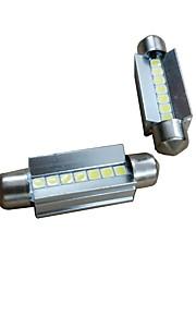 2pcs 41mm Bil Elpærer 7W 700lm 7 LED Indvendige Lights For Audi / Honda / Hyundai ML400 / GLE320 / GLA220 2018 / 2017 / 2016